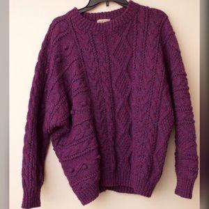 Sweaters - Purple Wool Sweater